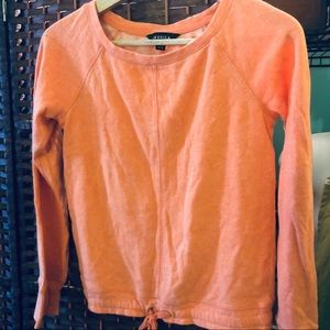 Jessica orange front tie sweater